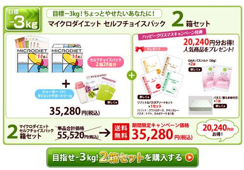 マイクロダイエット 2箱以上買うとバネスをプレゼント 2012年