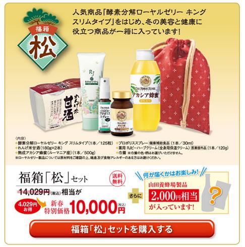 山田養蜂場 福箱キャンペーン 2013年1月