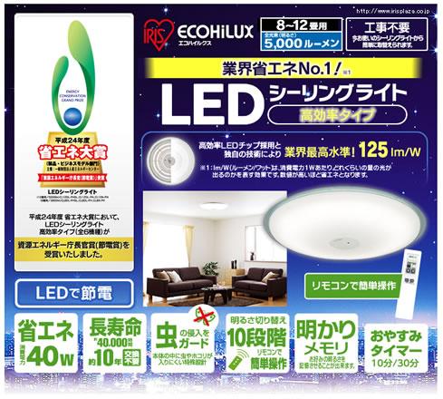 アイリスプラザでLEDシーリングライトが18,800円 2013年2月