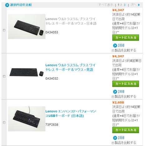 LENOVOのマウスとキーボード30%割引クーポン 2013年4月