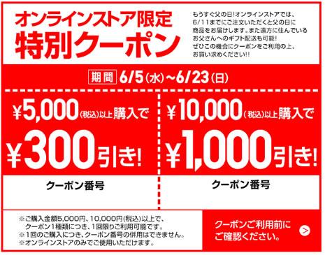 ユニクロの500円、1000円割引クーポン 2013年6月