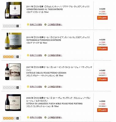 セール対象のワインの紹介