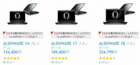 ノートパソコンの価格