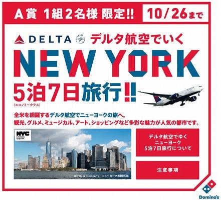デルタ航空でゆくニューヨーク5泊7日旅行のキャンペーン告知