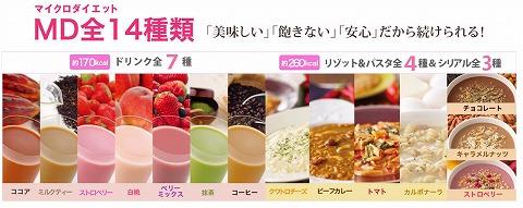 マイクロダイエットの味の紹介