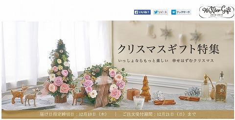 日比谷花壇 クリスマスギフトが10%OFF