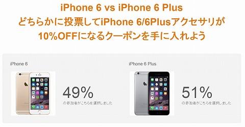 amazon iPhone6用アクセサリー10%OFFクーポン