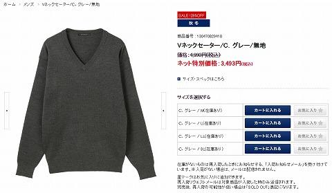 Vネックセーターの写真