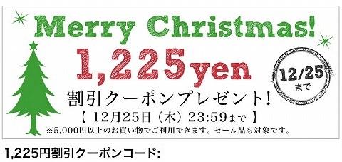 ナチュラン クリスマス用の1225円割引クーポン