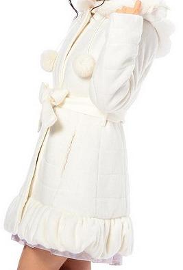 シャギーぺプラム中綿コートの写真