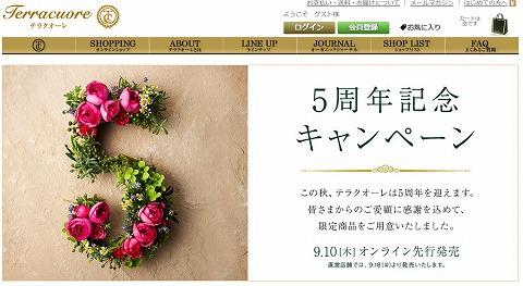 テラクオーレ 5周年記念の特別セットを販売