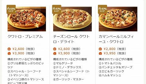 プレミアムレンジピザの写真