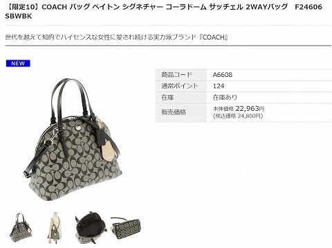 COACHのバッグの写真