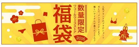 ワコール 2016年福袋を発売