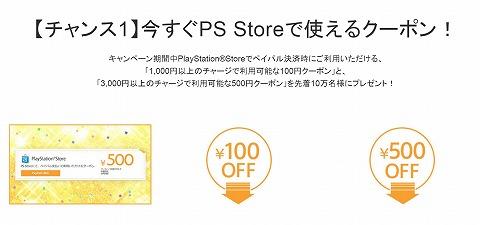 ペイパルでPS Store500円OFFクーポンをプレゼント