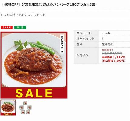 非常食用惣菜 煮込みハンバーグの写真