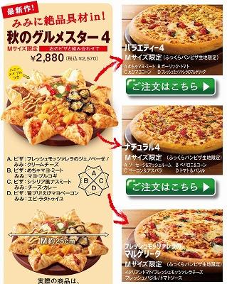 3種類のピザの写真
