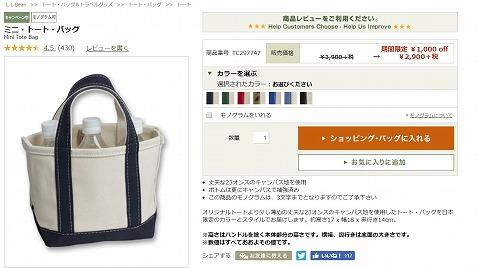ミニ・トートバッグの写真