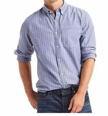 Oxfard novelty stripe long sleeve shirtの写真