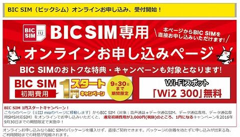 BIG SIM今なら初期費用が1円