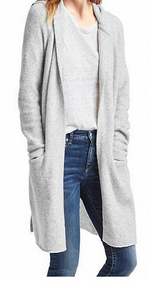 Long hooded cardiganの写真