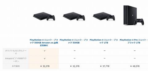 PS4の比較表