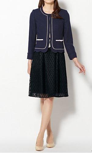 裾スカラジャケット&ワンピースの写真