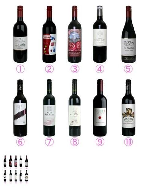 春に飲みたい世界の赤ワイン10本セットの内容